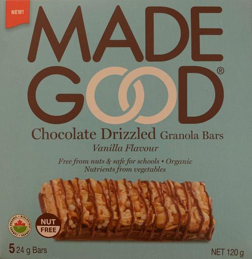 Made Good Organic Chocolate Drizzled Granola Bars - Vanilla