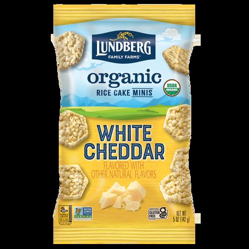 Lundberg Organic Rice Cake Minis - White Cheddar