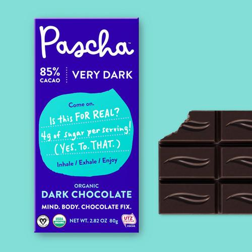 Pascha Organic 85% Very Dark Chocolate Bar