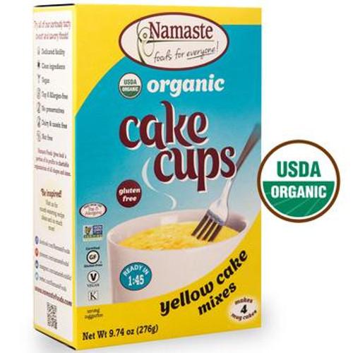 Namaste Organic Yellow Cake Cup Mixes - 4 Pack - FINAL SALE BB JUL 31