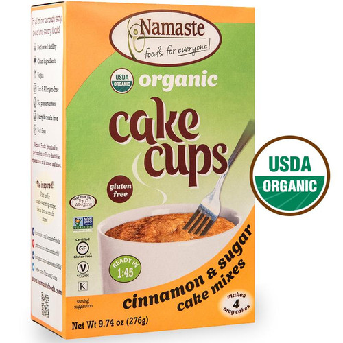 Namaste Organic Cinnamon Sugar Cake Cup Mixes - 4 Pack - FINAL SALE BB SEPT 30 - DISCONTINUED PRODUCT