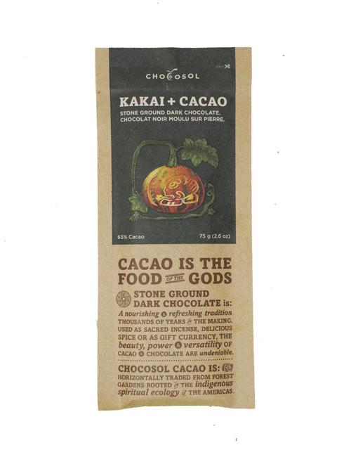 Chocosol Kakai + Cacao 65% Chocolate Bar