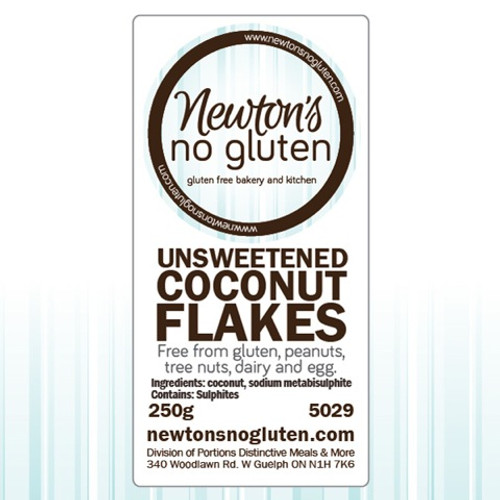 Newton's No Gluten Unsweetened Coconut Flakes