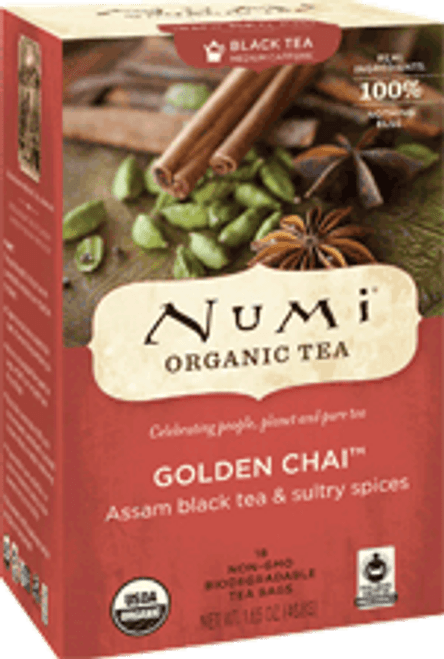 Numi Organic Bagged Tea - Golden Chai