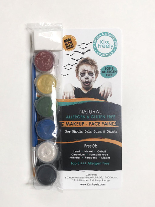 Kiss Freely Face Paint - 6 Pack
