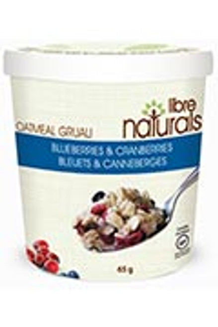 Libre Naturals Individual Oatmeal Cups - Blueberries & Cranberries