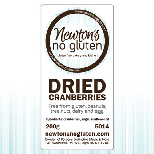 Newton's No Gluten Dried Cranberries
