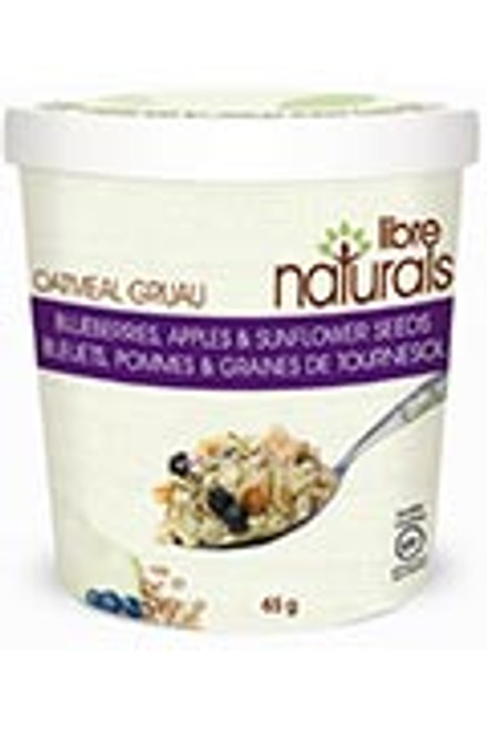 Libre Naturals Individual Oatmeal Cups - Blueberries, Apples & Sunflower Seeds