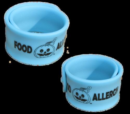 Allergy Superheroes Teal Glow Slap Bracelet