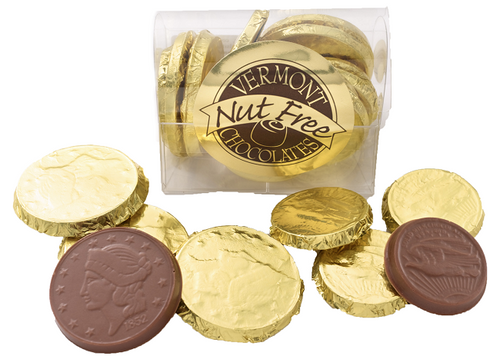 Vermont Nut Free Milk Chocolate Coin Box