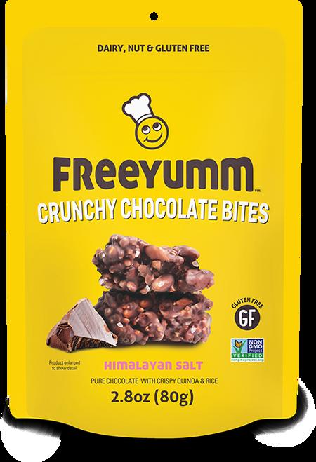 FreeYumm Crispy Chocolate Bites - Himalayan Salt