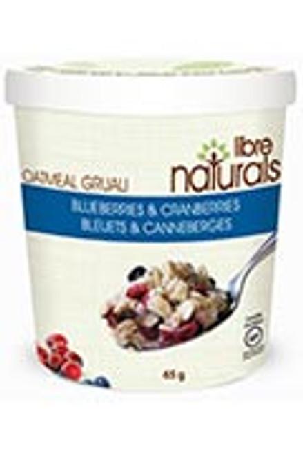 Libre Naturals Individual Oatmeal Cups - Blueberries & Cranberries - FINAL SALE BB JAN 22