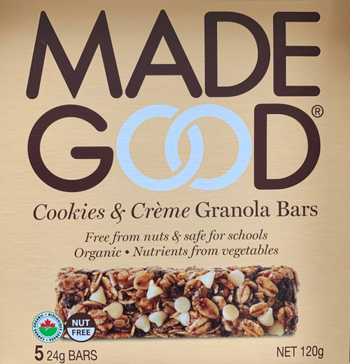 Made Good Organic Cookies & Creme Granola Bars