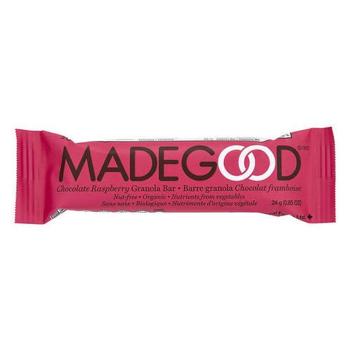 Made Good Organic Chocolate Raspberry Granola Bar - Single Bar 50% Larger