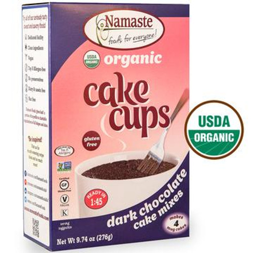 Namaste Organic Dark Chocolate Cake Cup Mixes - 4 Pack