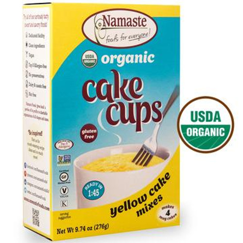 Namaste Organic Yellow Cake Cup Mixes - 4 Pack
