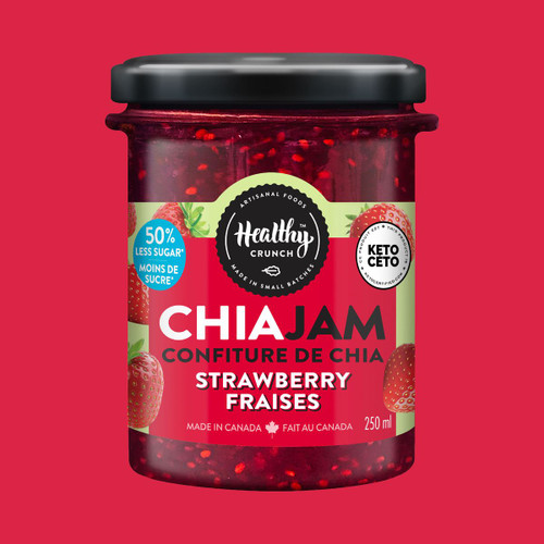 Healthy Crunch Strawberry Chia Jam