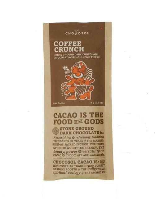 Chocosol Coffee Crunch 65% Chocolate Bar