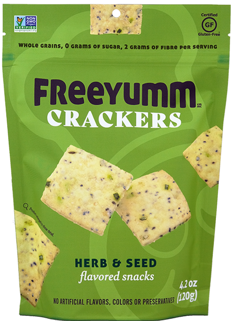 FreeYumm Crackers - Herb & Seed