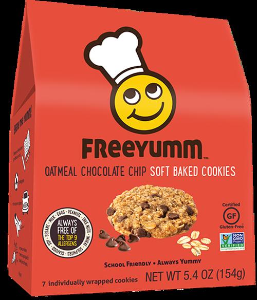 FreeYumm Oatmeal Chocolate Chip Cookies