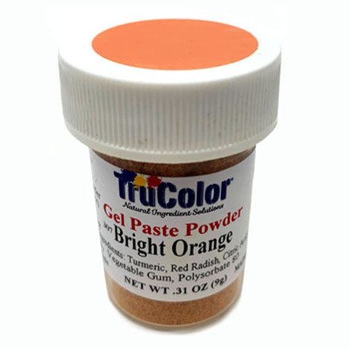 TruColor Natural Food Colouring - Bright Orange - NEW LARGER SIZE