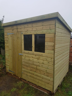 12mm Tanalised Pent Shed