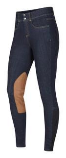 Kerrits Women's Stretch Denim Knee Patch Breech - Denim
