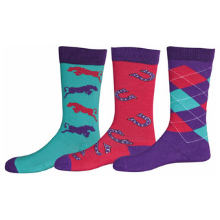TuffRider Children's Trio Ankle Socks - seperates