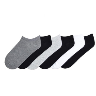 K. Bell  Women's Solids No Show Mixed Color 6-Pair Pack Socks