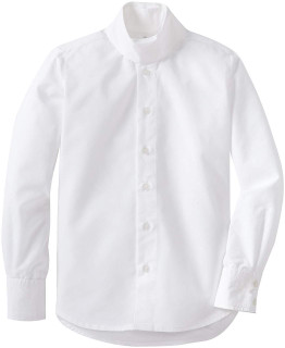 TuffRider Children's Starter Long Sleeve Show Shirt - White