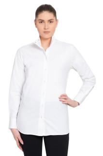 TuffRider Ladies Starter Long Sleeve Show Shirt - White