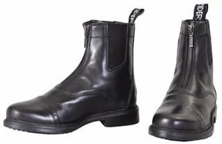 TuffRider Children's Baroque Front Zip Paddock Boots w/ Metal Zipper - Black