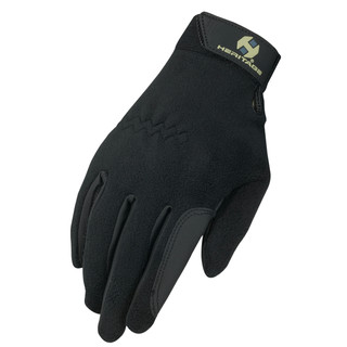 Heritage Gloves Performance Fleece Glove in Black