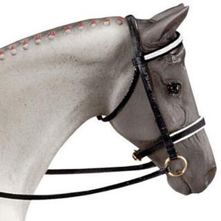 Breyer Horses - Traditional Size Black Dressage Bridle on Model