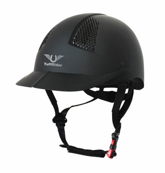 TuffRider Starter Horse Riding Safety Schooling Helmet - Black