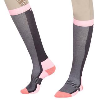 TuffRider Ladies Ventilated Knee Hi Socks - Peach
