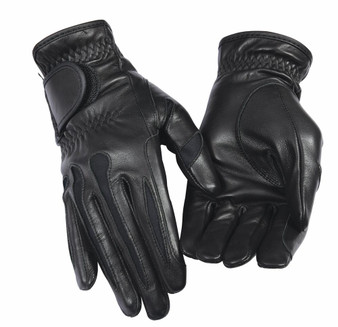 Equine Couture Ladies Stretch Leather Riding Gloves