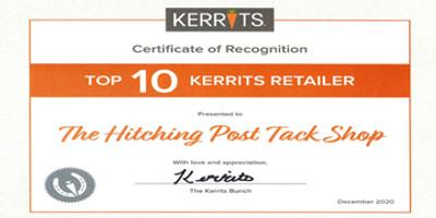 Kerrits Awards Hitching Post Tack & Supply, Inc. a Top Ten Rating!
