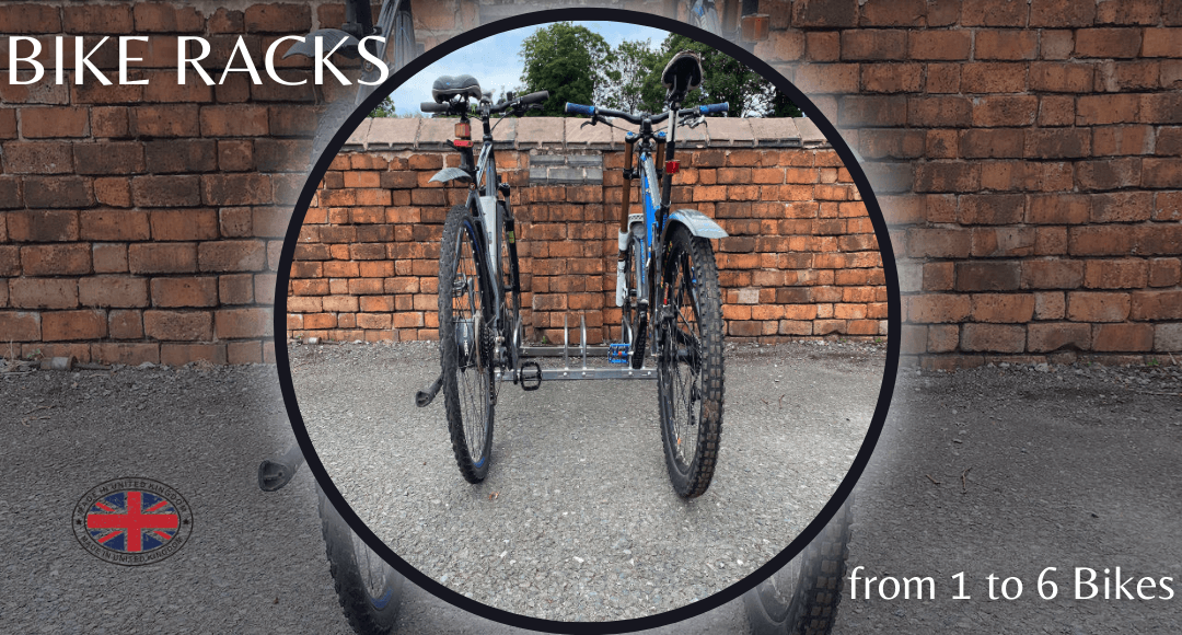 bison products bike racks from 1 to 6 bikes.