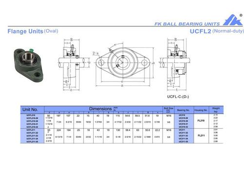 """UCFL211-35   2 3/16"""" Bore"""