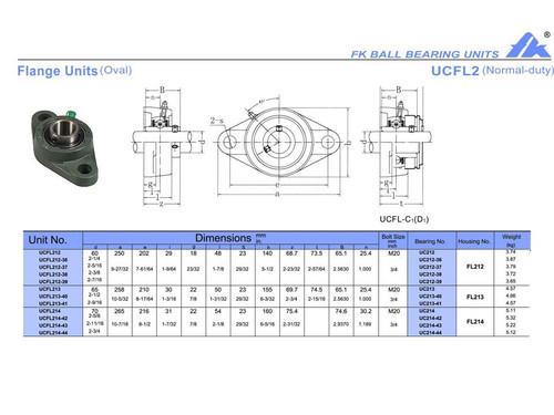 """UCFL212-39   2 7/16"""" Bore"""