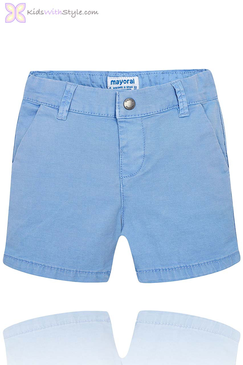 Chino In Baby Bermuda Boy Shorts Blue 6yY7gfIbvm
