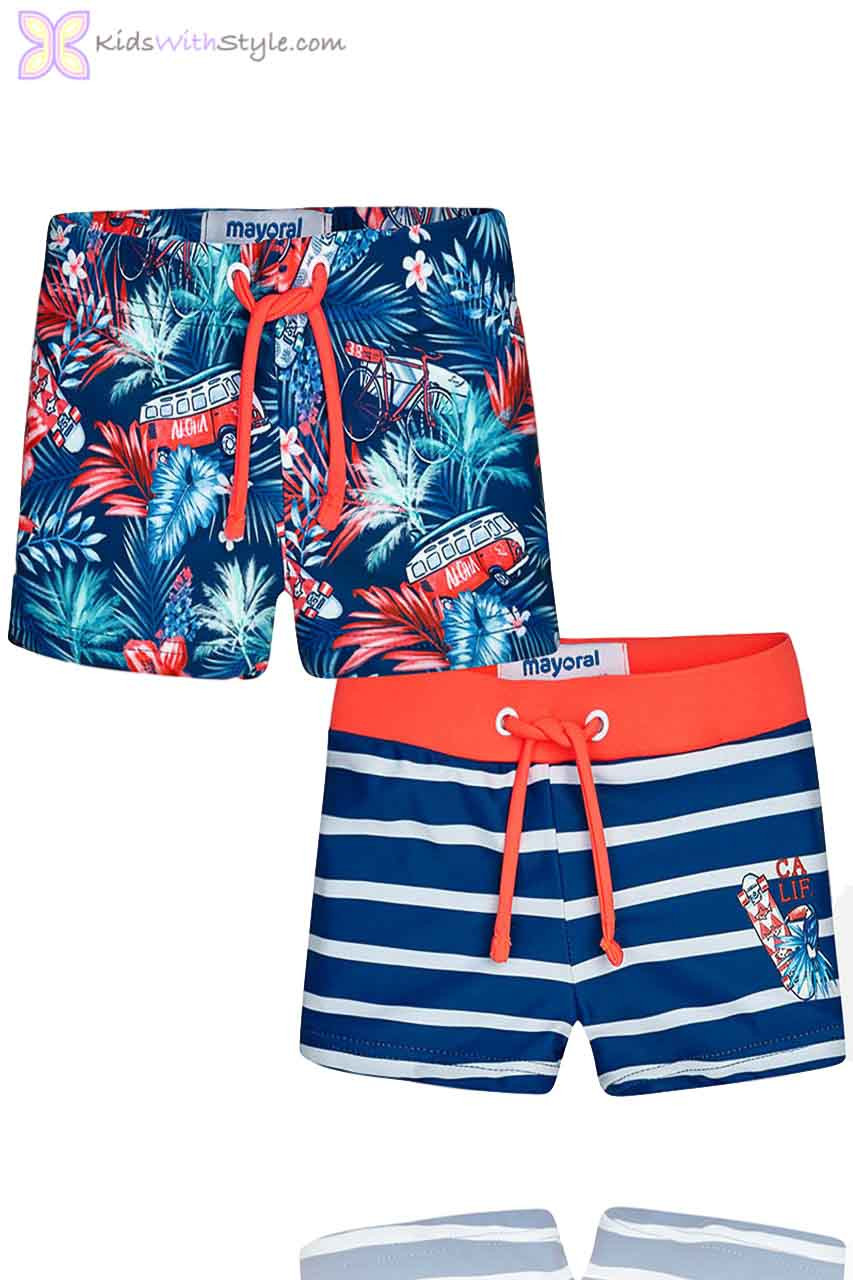 c87a015ab Baby Boy Set of 2 Swim Shorts in Blue | Shop Baby Boys Swimwear