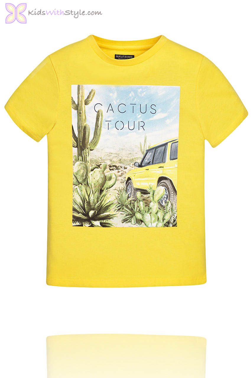 cc7811511 Boys Yellow T-Shirt with Desert Graphic | Shop Boys Graphic Tees