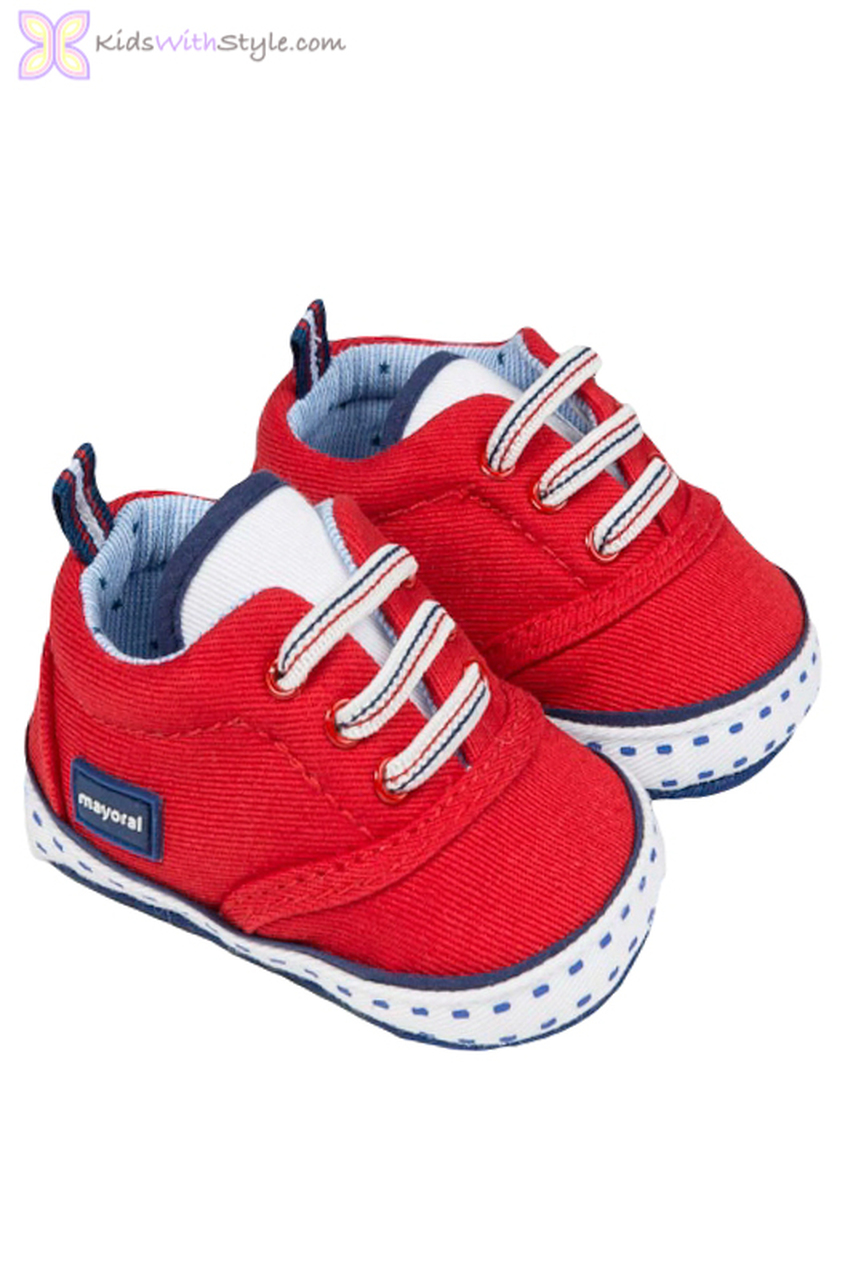 8fa8ad25 Baby Boy Canvas Shoes in Red | Shop Baby Boy Shoes