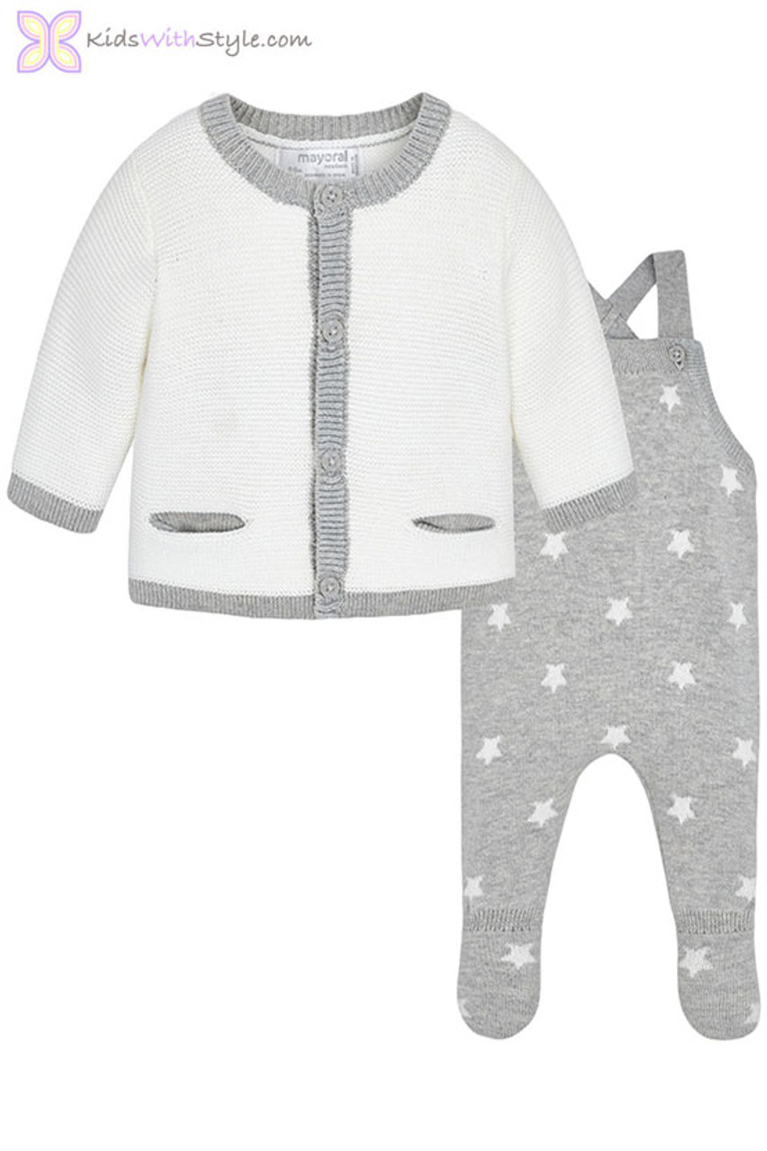 8cfba25f0 Baby Boy Knit Outfit Set in Grey | Shop Baby Boy Outfit Sets