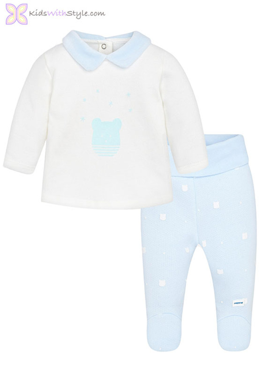 1195509af1ad Baby Boy Fleece Sweater   Pant Set in Sky Blue