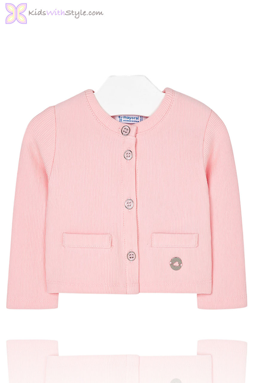 e40aba95d Baby Girls Pink Knit Cardigan