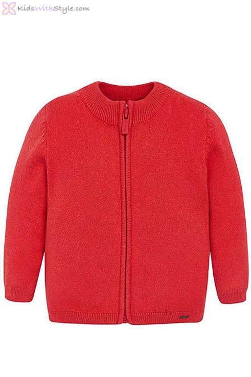 fb6f665d9 Baby Boys Red Classic Knitted Sweater Jacket | Shop Baby Boys Sweaters