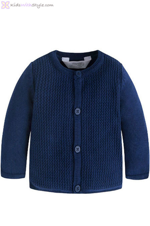 5fcd58872 Baby Boy Knitted Sweater Jacket in Navy